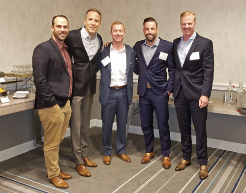 Industrial Panel (L-R): Nicholas Pellico, Penwood Real Estate Management; Eric R. Ruehle, West Harbor Capital; Zac Sakowski, JLL; Mike Metzger, Westcore Properties; Luke Staubitz, Kidder Mathews