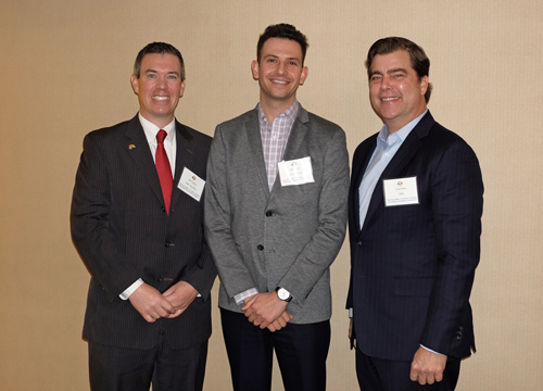 Industrial Panel (L-R): Mark Dodson, Wells Fargo Bank; Max Kaizer, Rexford Industrial; Craig Peters, CBRE