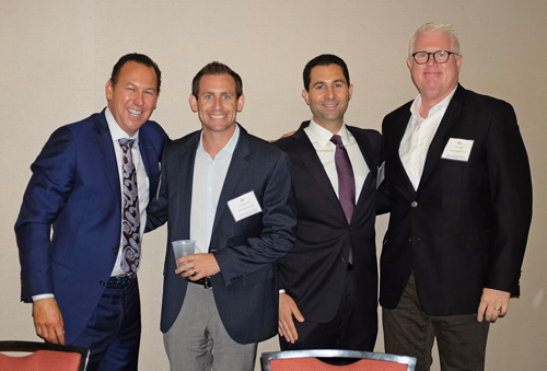 Multifamily Panel (L-R): Alex Garcia, Jr., Marcus & Millichap; Jeff Gleiberman, MG Properties Group; John Montakab, CBRE; Paul Runkle, Logan Capital Advisors