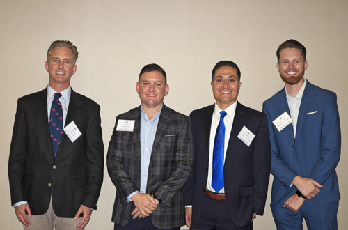 Retail Panel (L-R): Matthew Bush, Wood Investments; Jimmy Slusher, CBRE; Loren Bedolla, George Smith Partners; Greg Bedell, Progressive Real Estate Partners