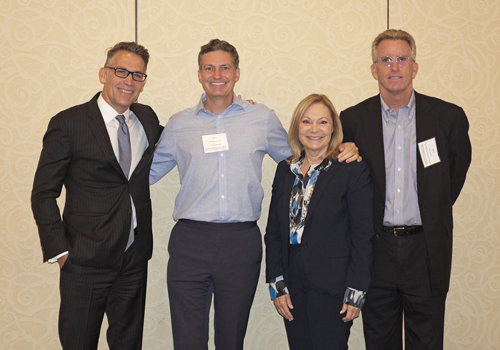 Broker Panel (L-R): Judd Dunning, DWG Capital Group; Stephen Somer, Eastdil Secured; Lisa St. John, L.A. Realty Partners; Chris Holland, WESTMAC Commercial Brokerage Company