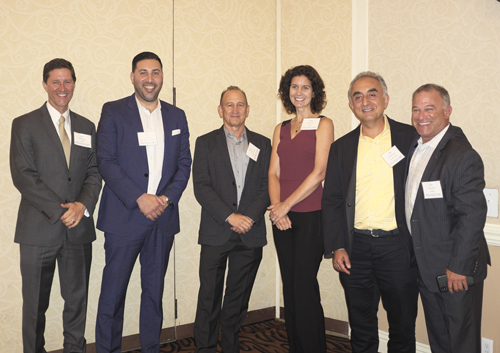 Multifamily Panel (L-R): Kamran Paydar, CBRE; Michael Sabet, Strategic Legacy Investment Group, Inc.; Ken Kahan, California Landmark; Adrienne Barr, Berkadia / Apartment Real Estate Advisors; Henry Manoucheri, Universe Holdings; Steve Bloom, RENTV