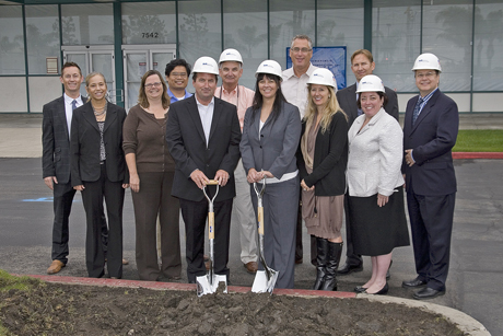 Groundbreaking on renovation of Edinger Plaza